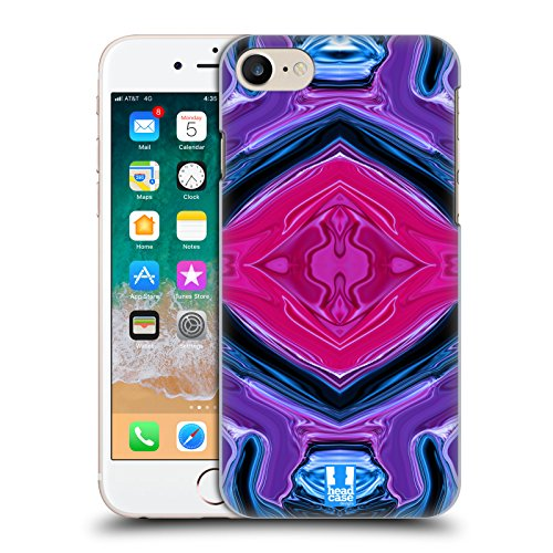 Head Case Designs Sapphire Colourful Agates Hard Back Case Compatible for iPhone 7 / iPhone 8