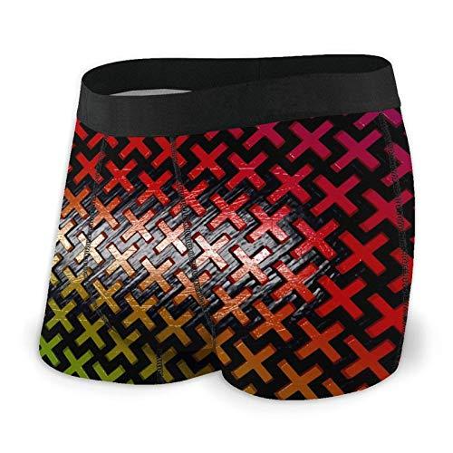 Blender Pattern X Mens Boxer Slip Divertente Stampato Biancheria Intima Traspirante Mutande Comfort Come da immagine M