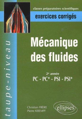 Mécanique des fluides PC-PC*-PSI-PSI*