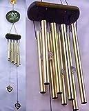Carillons d'éoliennes tubulaires cœur métal Décoration Jardin Maison...