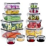 GoMaihe Recipientes de Plástico Alimentos 28 Pieza (14...