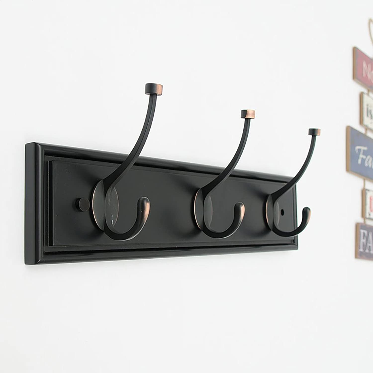 Wall Mounted Coat Rack, Wall-Hung Coat Hooks,Bedroom Living Room Entrance Simple Modern Bamboo System Wall-Mounted Coat Racks. (Size   2  11.5  48.3cm)