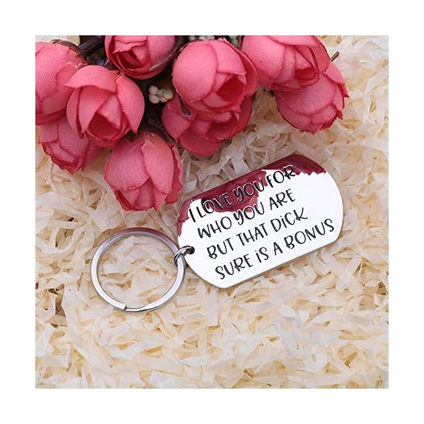 Funny Keychain for Boyfriend Husband Gifts from Girlfriend Wife Anniversary Valentine's Day Christmas Adult Humor Mature Sexy Sarcasm Naughty Gag Gift Idea for Men Him Fiance