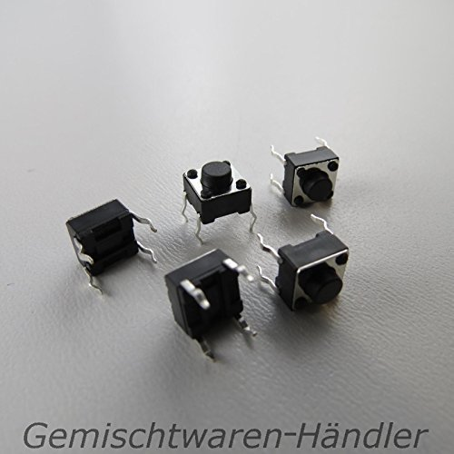 Unbekannt 10x Mikrotaster Mikroschalter AUS-(EIN) 6 x 6 x 5 mm 0,05A-12V Drucktaster Mini Mikro Taster Microtaster Mikro Schalter Tactile Drucktaster THT
