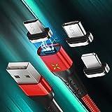 Cabo USB magnético + conector magnético compatible con iPhone - Goeik - Negro