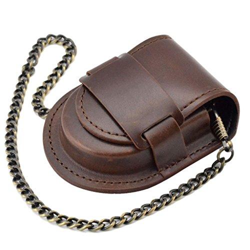 Tasche Antike Bronze Kette Uhr Beutelkasten Beutel Beutelhalter - Braun