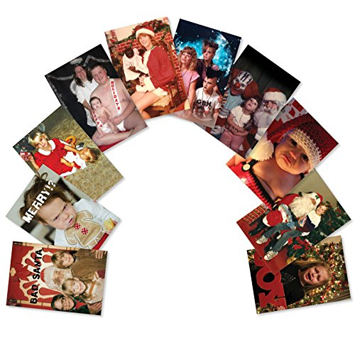 10 'Awkward Family Photos Assortment' Boxed Assorted Funny Merry Christmas Cards w/ Envelopes - Featuring a Set of Uncomfortable Family Holiday Portrait Pictures - Seasons Greetings A5553XSG-B1x10