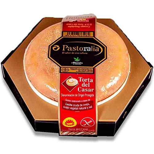 Queso Torta Del Casar Pastoralia - Peso 600 gramos - Queso de Oveja elaborado con leche cruda de oveja - D.O.P. Pastovelia
