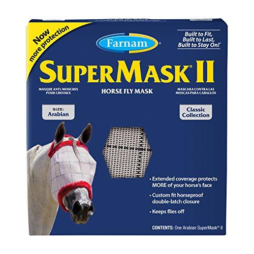 Farnam SuperMask II Classi Horse Fly Mask, Arabian size, Assorted