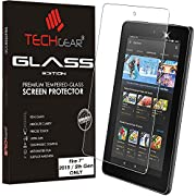 """TECHGEAR Amazon Fire 7"""" Tablet GLASS Edition Genuine Tempered Glass Screen Protector Guard Cover"""