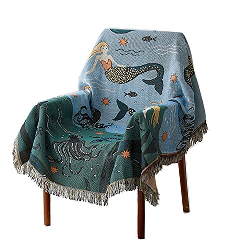 Decken,Sofabezug im amerikanischen Ethno-Stil,Kuscheldecke Wohndecke 130x160cm Linen & Cotton Decke, Tagesdecke Sofadecke Plaid Blanket Sofa Bett Bettüberwurf Sesseldecke