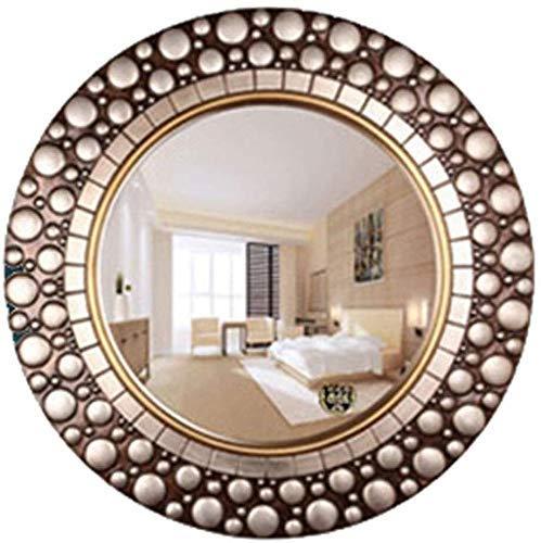 FGDSA Mirror Round European Wall Hanging Large Bathroom Living Room Bedroom Decor Toilet Vanity