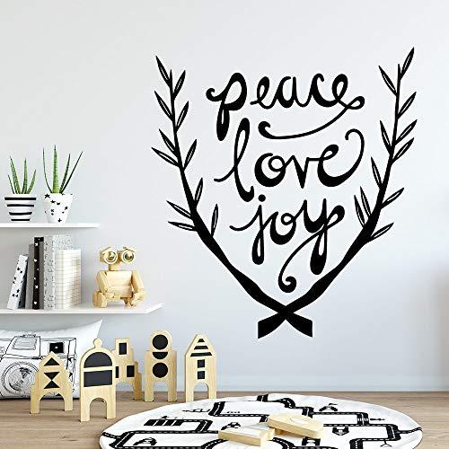JXWH platte liefde vreugde muursticker kunst behang decoratie woonkamer slaapkamer afneembare decoratie behang sticker