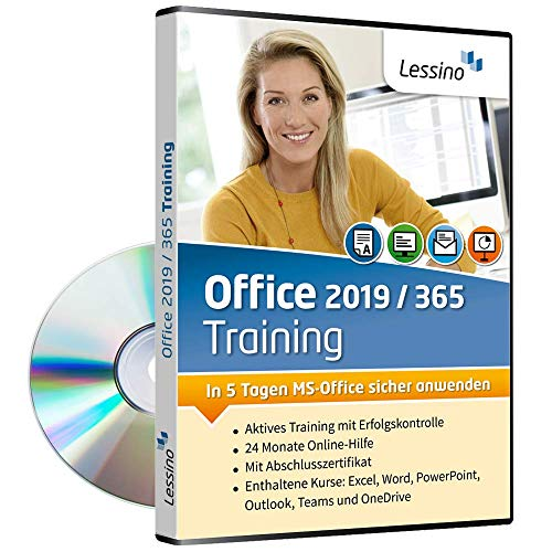 Office 2019 / Office 365 Training | Lernen Sie mit diesem Kurs Excel, Word, PowerPoint, Outlook, Teams und OneDrive | Einführung in MS Office | inkl. Online-Kurs [1 Nutzer-Lizenz]