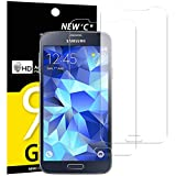 NEW'C Lot de 2, Verre Trempé pour Samsung Galaxy S5 New, Film Protection écran -...
