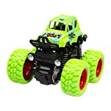 Funyplus Toy Cars for Children, Mini Pull Back Toy Car with Drop-Resistant Inertia Monster Truck