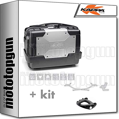 kappa maleta kgr46 garda 46 lt + portaequipaje monokey compatible con yamaha tracer 700 2020 20