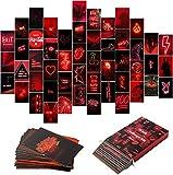 BeYumi 50 Stück Rot Neon Ästhetische Bilder Wand Collage