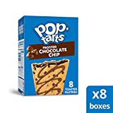 Pop-Tarts, Breakfast Toaster Pastries, Frosted Chocolate Chip, Proudly Baked in the USA, 64 count (Pack of 8, 13.5 oz Boxes)