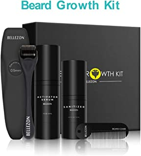 Shantan Upgraded Beard Growth Kit,Men Dad Beard Growth Grooming & Trimming - Unscented Leave-in Conditioner Oil, Beard Rapid Growth and Thickening, for Men Him Boyfriend Dad