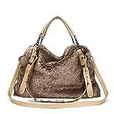 Black Sale Friday Deals Large Fur Tote Handbag Shoulder Travel Bags for Women