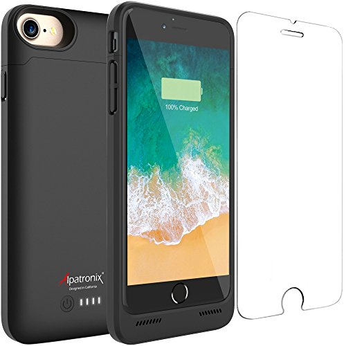 iPhone SE 2020/8/7 Battery Case, Slim Protective Extended Charging Case with UL-Tested Battery Compatible with New iPhone SE 2020, 8 & 7 (4.7 inch) BX180 – Black