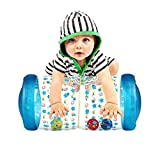 QINGBAO Fidget Toys Baby Crawling Fitness Toys Exercise Your Baby's Hearing and Touch Exercise Your Baby's Muscles and Coordination Baby Toys for 6 Months 1 2 3 Year olds (Blue)