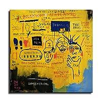Hollywood Africans- ジャン・ミシェル・バスキアポスター、グラフィティアールヌーボーアートパネル絵画フォトフレーム印刷ダンフレーム印象派ヨーロッパ壁壁紙壁画美術-76 (50x50cm,ポスター)