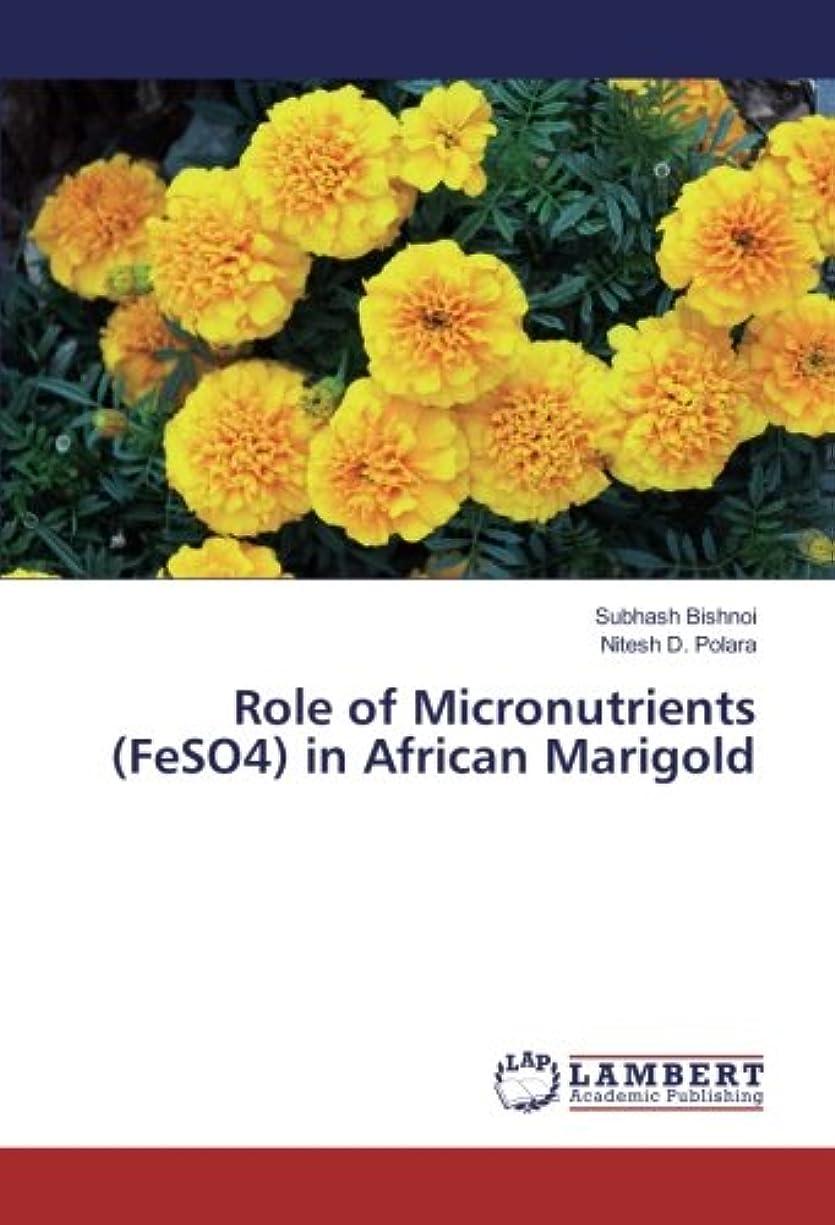 グリル悪性のキーRole of Micronutrients (FeSO4) in African Marigold