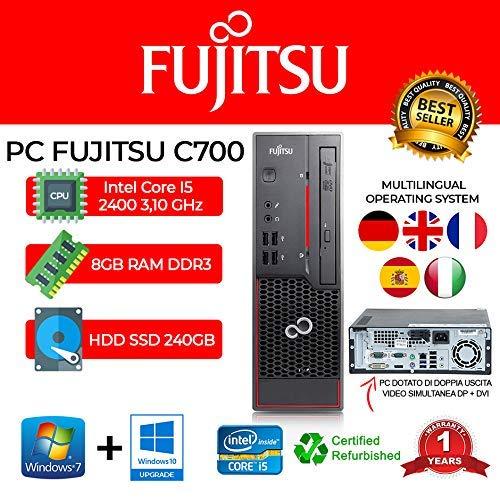 PC FUJITSU C700 INTEL CORE I5 3470 3,20GHZ/8GB/240GB SSD/DVD/WIN 10 PRO (Ricondizionato)