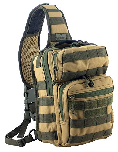 Red Rock Outdoor Gear - Rover Sling Pack, Coyote with Olive Drab Webbing