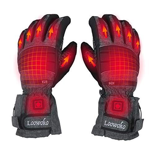 Lukasa Beheizte Handschuhe, Elektrische Heizung Handschuhe für Herren Damen, Wiederaufladbarem Akku Touchscreen Heizung Handwärmer für Skifahren,Jagen,Angeln,Radfahren,Camping