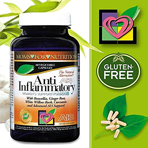 (Pack of 3) Women's All-Natural Anti-Inflammatory Support Formula by Moms for Nutrition with a Proprietary Blend of Enzymes, 12 Herbs and Botanicals for Inflammation-Induced Pain,Day/Night 1