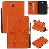 Funda protectora For Samsung Galaxy Tab A 8.0 pulgadas SM-T350 / T355 Caja de la tableta Hebilla magnética Flip Cover Stand de plegable Estuche a prueba de golpes Estuche Durable ( Color : Orange )