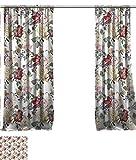 vanfanhome - Cortina de Lino Transparente Grande para Decorar Ventanas, impresión con Textura de Lava o Fuego, Panel de privacidad para Puerta corredera de Cristal de Patio, 2 Paneles,