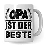 Opa Tasse mit Spruch, Großvater Geschenk, Becher Grossvater Geschenkidee, Kaffeetasse Opa ist der Beste Kaffeebecher