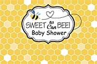 Amxxy 10x8ftビニールベビーシャワーの写真の背景甘い蜂抽象的な幾何学ベクトル黄色のヘキサゴングリッド写真の背景新生児の男の子の女の子の肖像画の写真の装飾スタジオの小道具