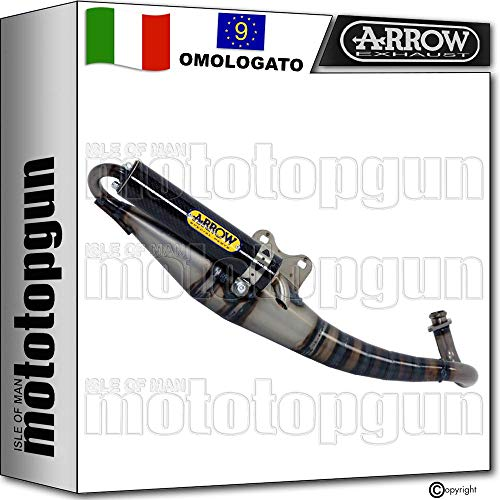 ARROW - Tubo de escape completo y homologado EXTREME de carbono compatible con Yamaha NEO'S 1995 95 1996 96 1997 97 1998 98 1999 99 2000 00 2001 01 33512EK