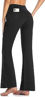 MOVE BEYOND, Pantalones y Pantalones Piratas Capris de Yoga para Mujer de con 4 Bolsillos Pantalón de Pilates de Cintura Alta Yoga Gimnasio Running Training