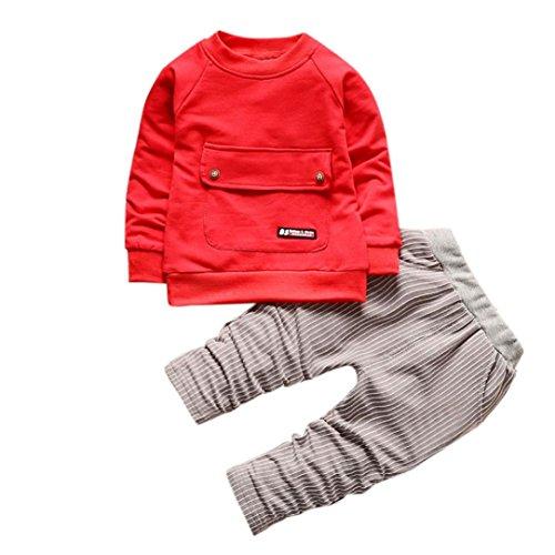 Bebé niños niñas Camiseta + Rayas Pantalones Largos