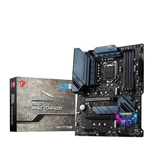 MSI MAG B560 TORPEDO Placa Base Gaming, ATX - Soporta Procesadores Intel Core 11ª Gen, LGA 1200 - Mystic Light, DDR4 Boost (5066MHz/OC), 2 x PCIe 4.0/3.0 x16, 3 x M.2 Gen4/3, 2.5G +1G LAN