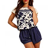 Young-Fashion Damen Jumpsuit Shorts Kurzoverall Beachwear Strandoverall,...