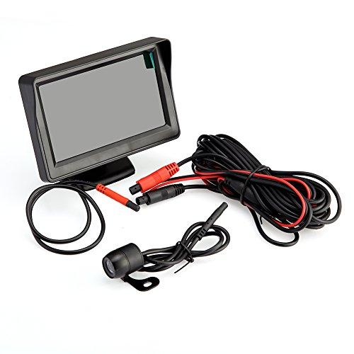 4.3 pouce Pliable LCD Moniteur Système LED Night Vision Caméra de Recul 480TVL Nocturne Étanche Voiture
