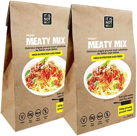Mezcla de Carne Vegana Instantánea Perfecto para cocinar 200g   proteína de soja   Vegano   100% Sin Gluten (Pack de 2)