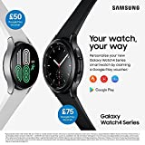 Samsung Galaxy Watch4 Classic Smart Watch, Rotating Bezel, Health Monitoring, Fitness Tracker, Bluetooth, 46 mm, Black (UK Version)
