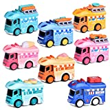 FUN LITTLE TOYS 8 PCs Pull Back Cars Toys, Friction Powered Ice Cream Die-Cast Cars for Kids, Car Toys for 1,2,3,4 Year Old Girls & Boys