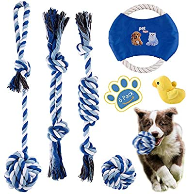 MALOROY Dog Rope Toys for Aggressive Chewers La...