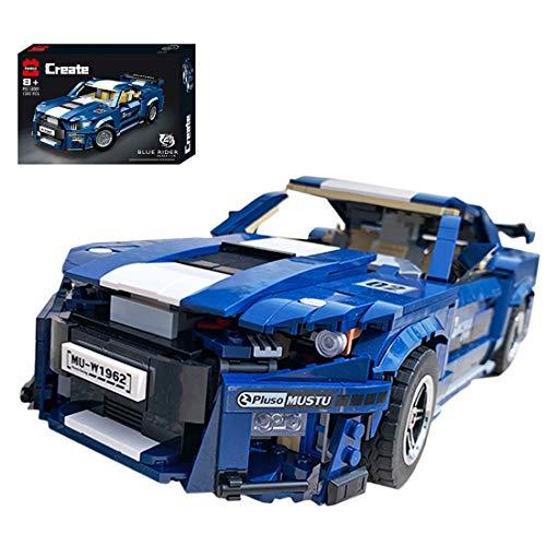 Oeasy Technic GT500 - Auto da corsa Ford Mustang Shelby da costruire, 1623 pezzi, set di costruzione compatibile con Lego
