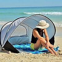 Tienda de Campaña Pop up Tienda de Playa Desplegable Instantánea para 2 Personas con FPS 50+ para Protección Solar UV Incluye Bolsa de Viaje,Plata