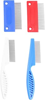 Balacoo 4pcs Pet Lice Combs Dog Cat Grooming Flea Comb Cat Tear Stain Comb Dog Bath Brush Pet Hair Comb for Cat Dog